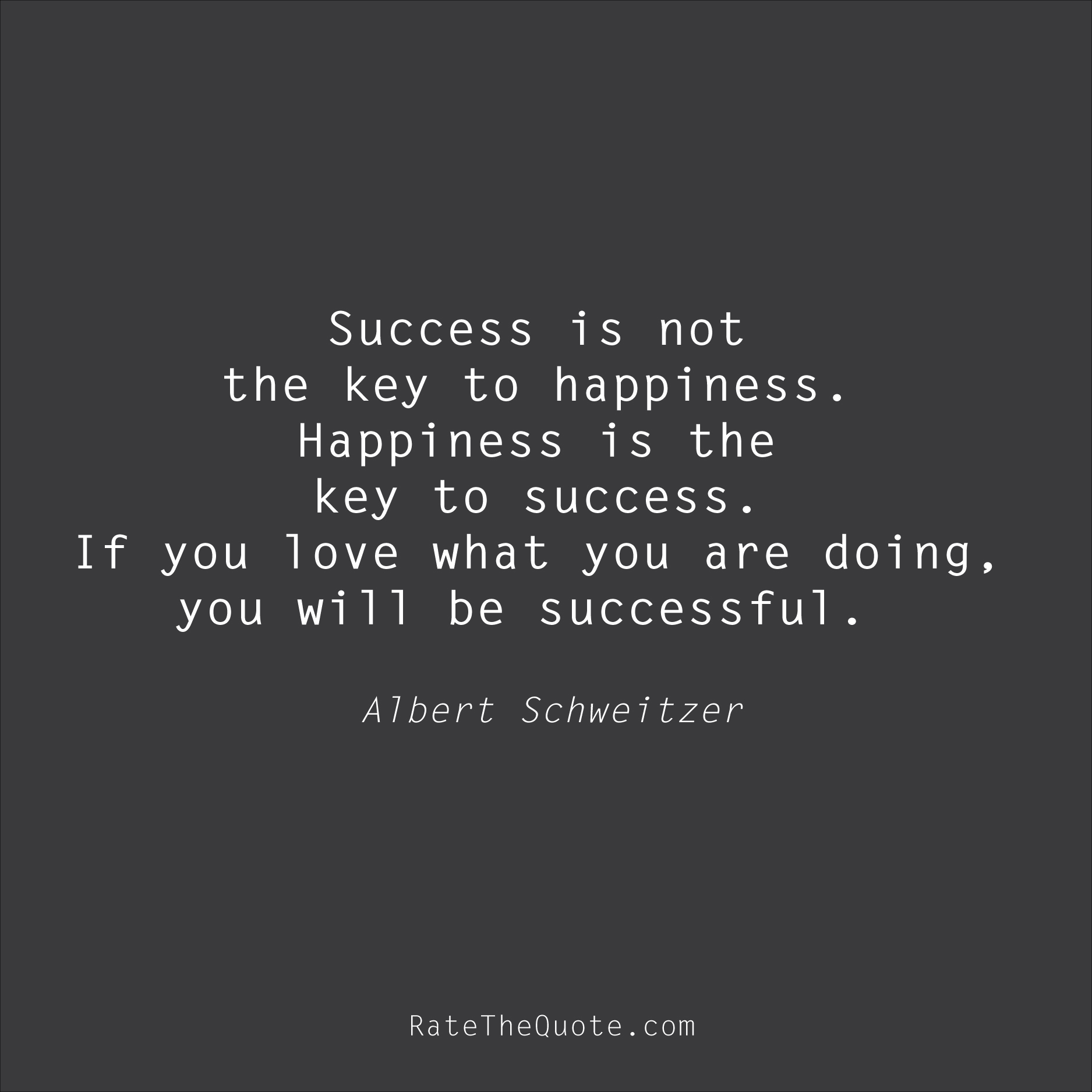 key to success quote
