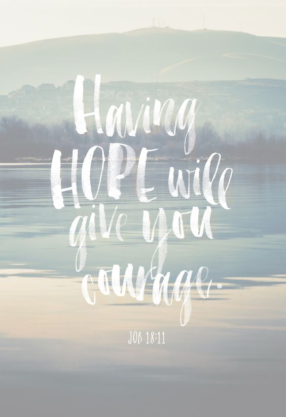 Beautiful Quotes: Having hope will give you courage.