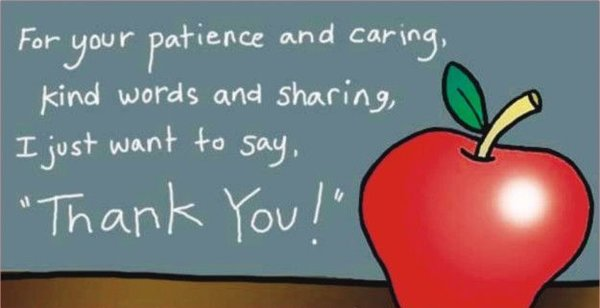 """Gratitude quotes For your patience and caring, kind words and sharing, """"Thank You""""."""