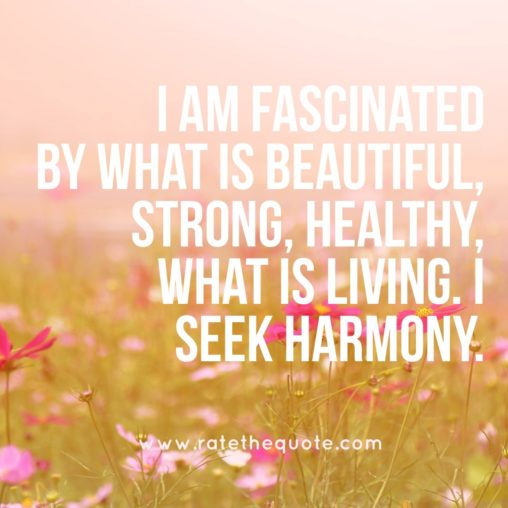 """I am fascinated by what is beautiful, strong, healthy, what is living. I seek harmony."" – Leni Riefenstahl"