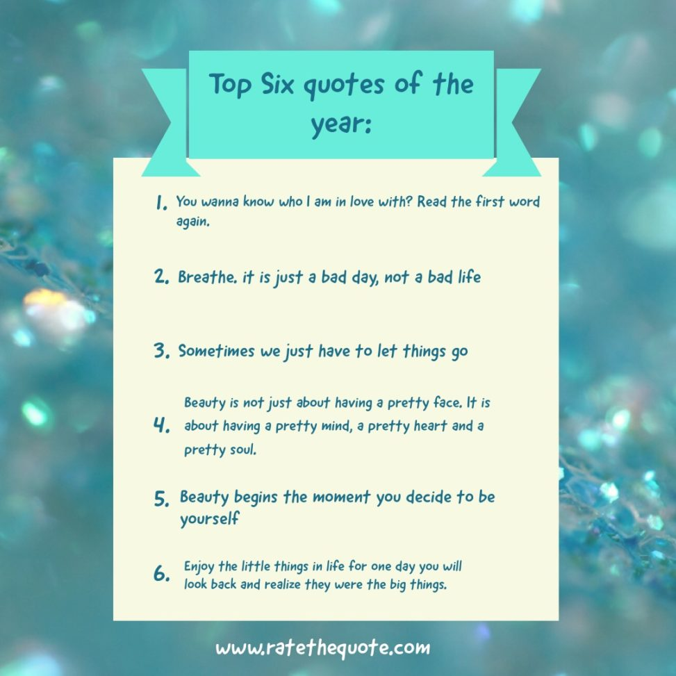 Top Six quotes of the year